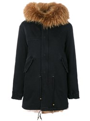 Mr And Mrs Italy Classic Fur Lined Parka Women Cotton Lamb Skin Leather Racoon Fur Xs Green
