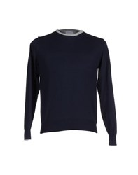 Rossopuro Knitwear Jumpers Men Dark Blue