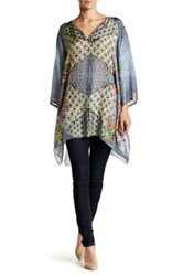 Johnny Was Floral Silk Tunic Multi