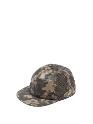 Satisfy Camouflage Print Running Cap Green Multi