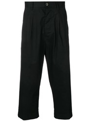 Covert Cropped Tailored Trousers Black