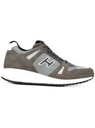 Hogan Chunky Sole Lace Up Sneakers Grey