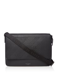 24ab56cc8c3d10 Ted Baker Airlift Embossed Flap Messenger Bag Black