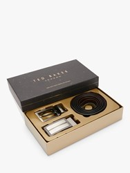 Ted Baker Flatter Reversible Leather Belt In A Box One Size