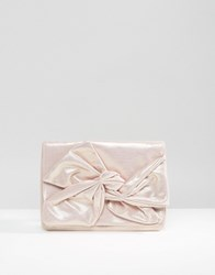 Asos Soft Bow Clutch Bag Pink