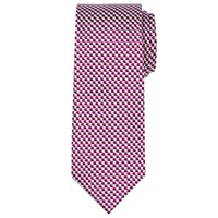 Chester Barrie By Chevron Woven Silk Tie Burgundy Silver