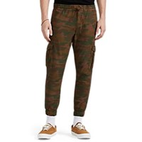 Nsf Camouflage Cotton Canvas Drawstring Joggers Brown