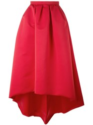 Paule Ka Long High Low Skirt Red