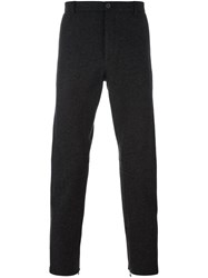 Lanvin Marled Straight Fit Trousers Grey