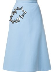 Christopher Kane 'Smash' Midi Skirt Blue