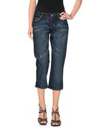 Frankie Morello Denim Denim Capris Women Blue