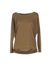 Cristinaeffe Collection Topwear T Shirts Women Military Green