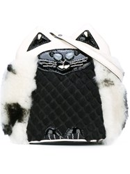 Jamin Puech 'Kitty' Motif Crossbody Bag Black