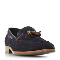 Dune Rivers Double Tassel Leather Loafer Navy