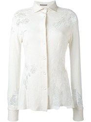 Ermanno Scervino Lace Detail Shirt White