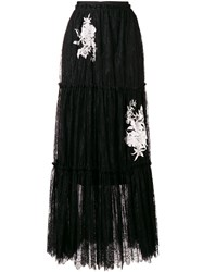 Twin Set Lace Maxi Skirt Black
