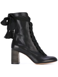 Chloe 'Harper' Boots Women Calf Leather Leather Rubber 38.5 Black