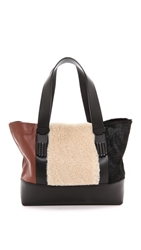 Opening Ceremony Millie Small Tote With Haircalf Natural Multi