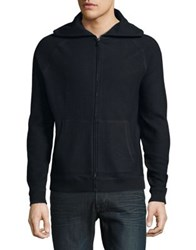 Black Brown Ribbed Cotton Hoodie Anthracite