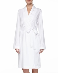 Hanro Cotton Wrap Jersey Robe White