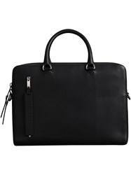 Burberry Grainy Leather Briefcase Black