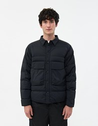 Goldwin Nylon Down Shirt In Black