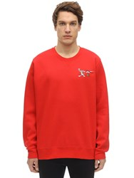 Reebok Tom And Jerry Cotton Sweatshirt Red