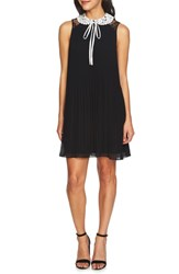 Cece Scarlett Pleated Shift Dress Rich Black