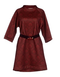 So Nice Short Dresses Maroon