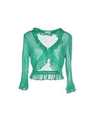 List Knitwear Wrap Cardigans Women Green