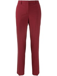 Theory Slim Fit Chinos Red