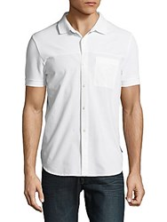 French Connection Short Sleeve Hybrid Casual Shirt White