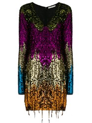 Amen Sequin Tassel Mini Dress Multicolour