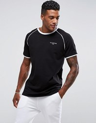 Illusive London Poly T Shirt In Black With Piping Black
