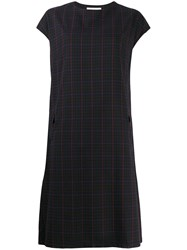 Zucca Checked Shift Dress Blue