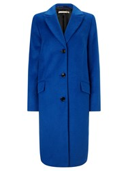 John Lewis Jess Three Button Coat Cobalt