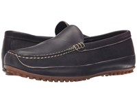 Allen Edmonds Interstate 90 Navy Leather Men's Slip On Shoes Blue