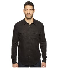 Lucky Brand Reef Linen Western Shirt Reef Linen Black Men's Clothing