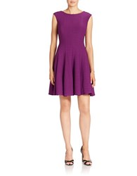 Gabby Skye Pleated Fit And Flare Dress Violet