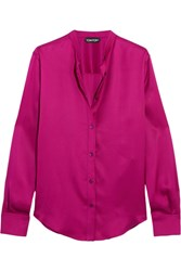 Tom Ford Silk Satin Blouse Fuchsia