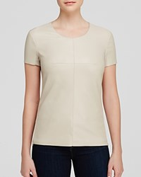 Bailey 44 Tee Camel Faux Leather Front