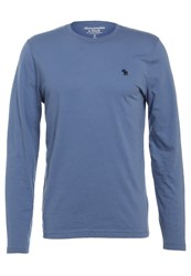 Abercrombie And Fitch Pop Icon Crew Long Sleeved Top Light Blue