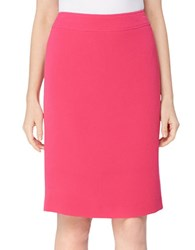 Tahari By Arthur S. Levine Classic Fit Straight Crinkle Skirt