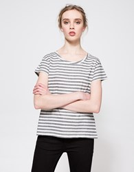 Cheap Monday Have Tee Multistripe Dirty White