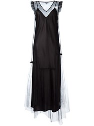 Opening Ceremony Sheer Layered Dress Black