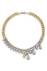 Iosselliani Gold Tone Crystal Necklace Gold
