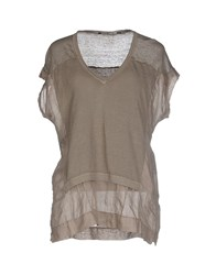 European Culture Shirts Blouses Women Grey