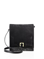 Halston Suede Small Messenger Bag Black