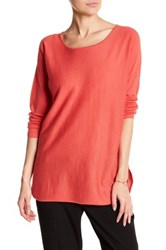 Eileen Fisher Ballet Neck Cashmere Tunic Sweater Pink