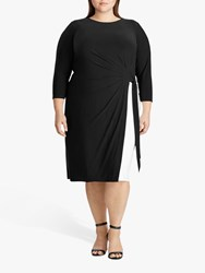 Ralph Lauren Curve Robbyann Day Dress Black White